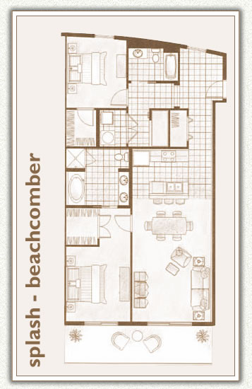 Panama City Beach Vacation Als On The 2 5 Br 2ba Beachcomber Floorplan